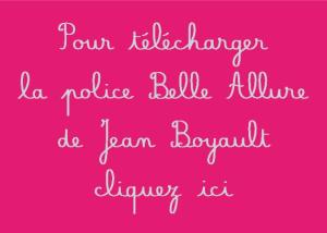 Police cursive Belle Allure